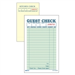 Daymark Guest Check 2 Part Carbon Green