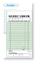 Daymark 1 Part Guest Check Board Green