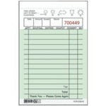 Daymark 1 Part Bond Guest Check Book Green