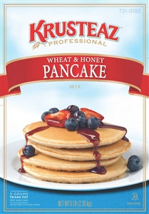 Continental Mills Krusteaz Whole Wheat Honey Pancake Mix - 5 Lb.