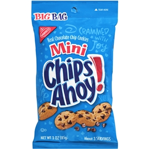 Kraft Nabisco Mini Chips Ahoy Chocolate Chip Snack - 3 Oz.