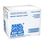 Handgards Latex Medium Glove Yellow - 12 in.