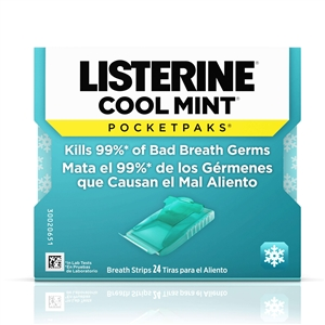 Johnson and Johnson Listerine Pocketpaks Cool Mint