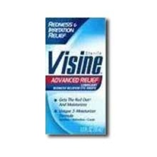 Johnson and Johnson Visine Advanced Relief Eye Drops Bottle - 0.5 Oz.