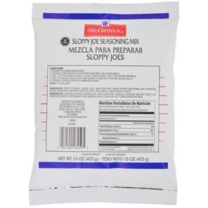 McCormick Sloppy Joes Seasoning Mix Pouch 15 oz.