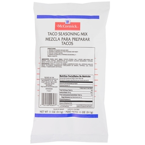McCormick No Msg Taco Seasoning Pouch 9 oz.