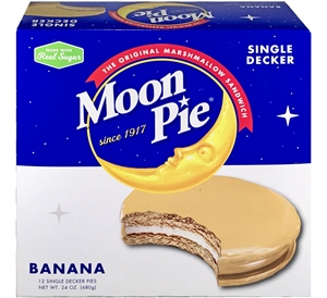 Banana Single Decker MoonPie Snack