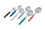 Vollrath One Piece Solid Oval Spoodle With Handle Blue - 2 Oz.