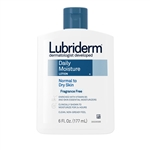 Johnson and Johnson Lubriderm Fragrance Free Daily Moisture Lotion - 6 Oz.