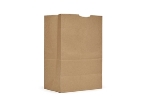 AJM Natural Kraft One Sixth BBL Grocery Sack