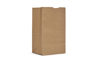 AJM Squat Kraft Grocery Bags 20 lb.