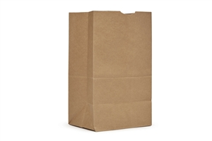 AJM Squat Kraft Grocery Bags 25 lb.