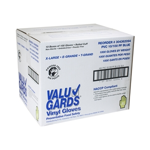 Glove Vinyl Blue Large Powder Free