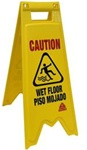 O-Cedar Bilingual Plastic Wet Floor Safety Sign - 29 in. x 13 in. x 9 in.