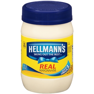 Unilever Best Foods Hellmanns Packed In Glass Mayonnaise - 15 oz.
