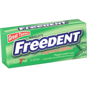 Wrigleys Freedent Peppermint Bubble Gum Plenty Pack