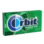 Wrigleys Orbit Spearmint Bubble Gum - 12 Case