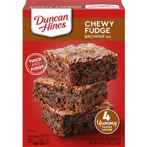 Pinnacle Duncan Hines Chewy Fudge Mega Brownie Mix - 84 Oz.