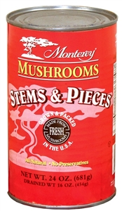 Monterey Mushroom Pieces and Stems Blend