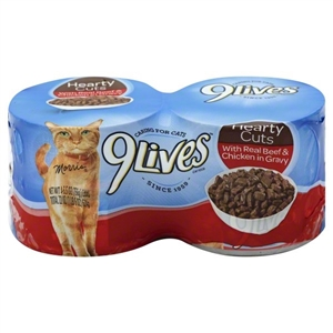 Tender Sliced With Real Beef In Gravy 9 Lives Cat Food - 5.5 oz.