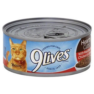 9 Lives Tender Sliced With Real Beef In Gravy - 5.5 oz.