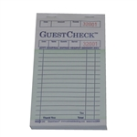 National Checking Guest Check Paper Green 17 Lines - 3.5 in. x 6.75 in.