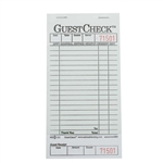 National Checking Guest Check Paper Green 18 Lines - 3.5 in. x 6.75 in.