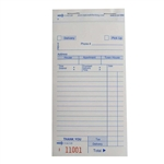 National Checking Carbonless 3 Part Delivery Form White 14 Line