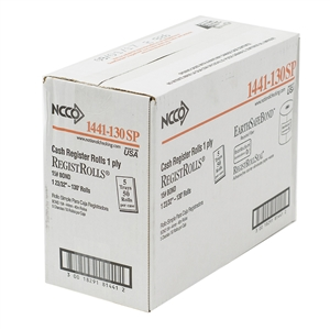 National Checking Register Roll 1 Ply White Bond - 44 mm.