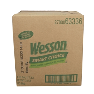 Conagra Pure Wesson Smart Choice Cottenseed Canola blend Oil Bag In Box 35 Lb.