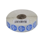 National Checking Trilingual Permanent Labels Circle Monday Blue - 0.75 in.