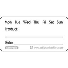 National Checking Product Remolvable Label - 1 in. x 2 in.