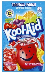Kraft Nabisco Kool Aid Tropical Punch Beverage - 0.16 Oz.