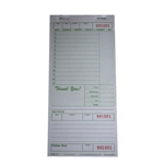 National Checking Guest Check Board Green One Part 13 Lines