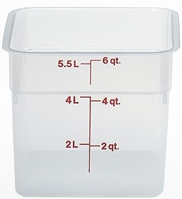 Cambro Square Translucent Container 6 Quart