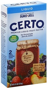 Kraft Nabisco Certo Fruit Liquid Pectin Organic Certified - 6 Oz.