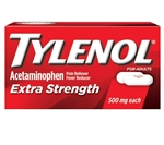 Tylenol Extra Strength Caplets Vial Rack 1 Box of 10 Tablets