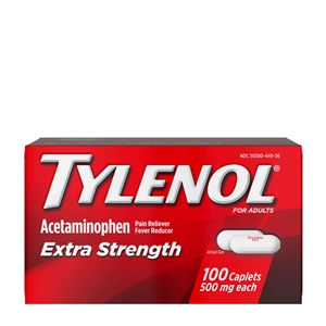 Tylenol Extra Strength Caplets 48 Boxes of 100 Tablets