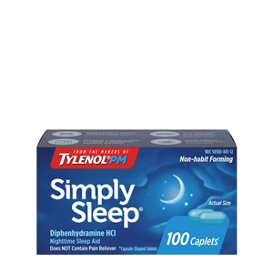 Simply Sleep Caplets | Bulk Case of 7200 Sleep Aids