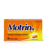 Motrin IB Caplets 48 Boxes of 50 Tablets