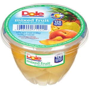 Dole Mixed Fruit With Fork Fruit Bowl - 7 Oz.
