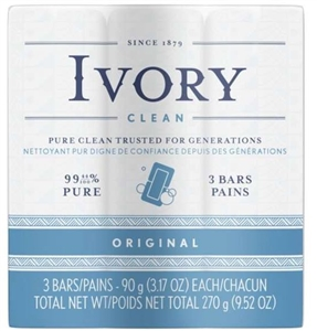 Procter and Gamble Simply Ivory Bor Soap - 3.1 Oz.