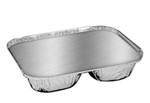 Handi Foil Oblong Three Compartment Tray With Lid