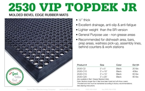Cactus Vip Topdek Junior Floor Mat Black 3 Ft. X 5 Ft.