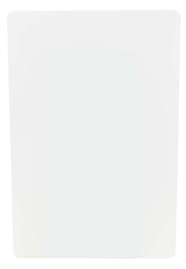 Tablecraft Polyethylene Board Cutting White - 15 in. x 20 in.