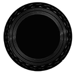 Black Round Serving Tray - 16 in.