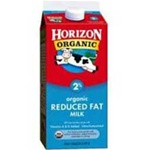 White Wave Horizon Organic Aseptic Fat Reduced Milk - 8 Oz.