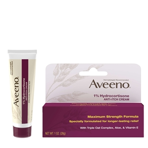 Aveeno One Percent Hydrocortisone Anti-Itch Cream - 1 Oz.