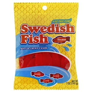 Swedish Fish Candy Red Peg Bag - 375 Pound