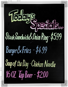 Mr Bar B Q Write On Black and White Reversible Board - 18 in. x 24 in.